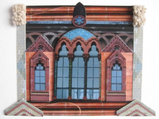 Templetons Postcard Collage Arched Window