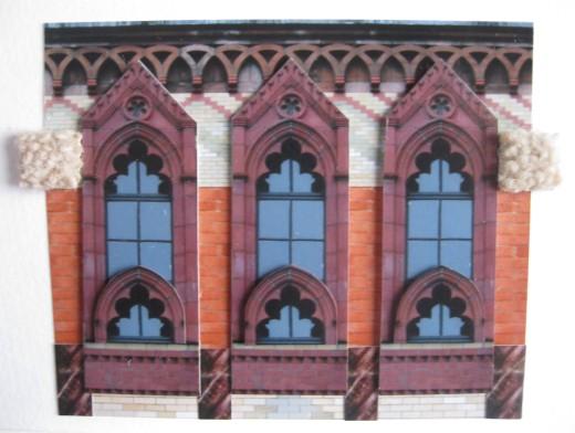 Templetons Postcard Collage Three Windows
