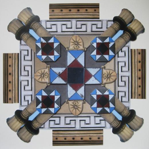 Minton Tiles and Chimney Pots