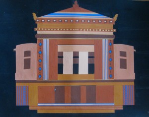 This gouache painting was the first of two I did of this magnificent building.