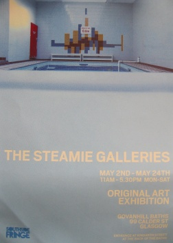 I was invited to take part in this exciting new exhibition and venue at historic Govanhill Baths, during the Southside Fringe event.