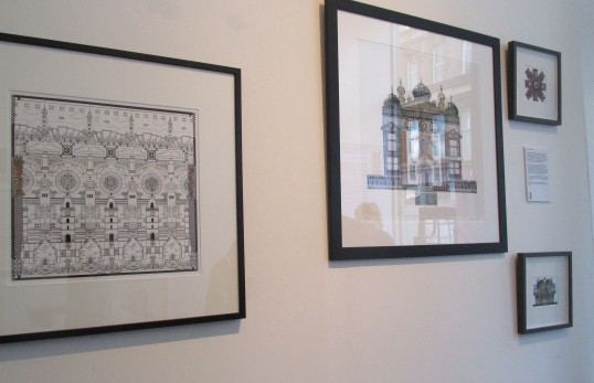 The New Glasgow Society walls displayed 2 prints and 2 original collages as a part of The Tenement Project which ran during the Doors Open Day festival.