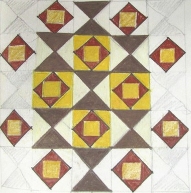 A small section of the floor design repeated.