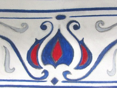 Wall Tile design from The Arlington Baths Club.