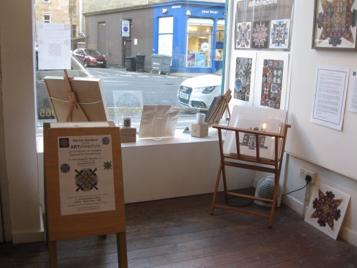 The exhibition was supported with window posters and a sandwich board which was placed appropriately.