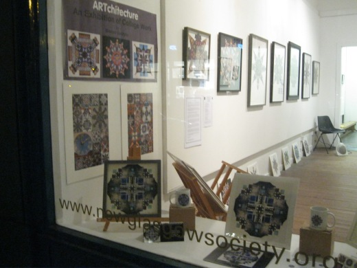 The exhibition displayed 24 original collages and a selection of prints.